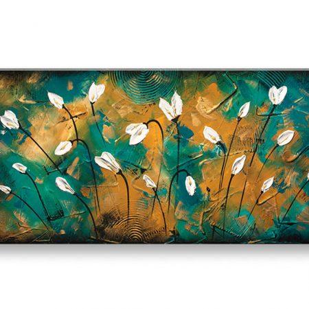 Maľovaný obraz na stenu KVETY YOBBI186E1