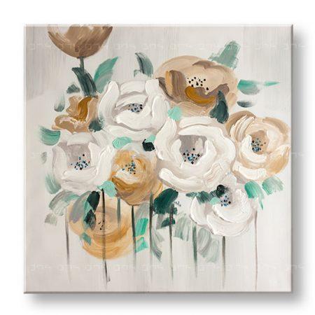 Maľovaný obraz na stenu KVETY YOBFB531E1