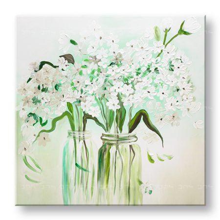 Maľovaný obraz na stenu KVETY YOBFB541E1