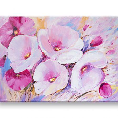 Maľovaný obraz na stenu KVETY YOBFB545E1