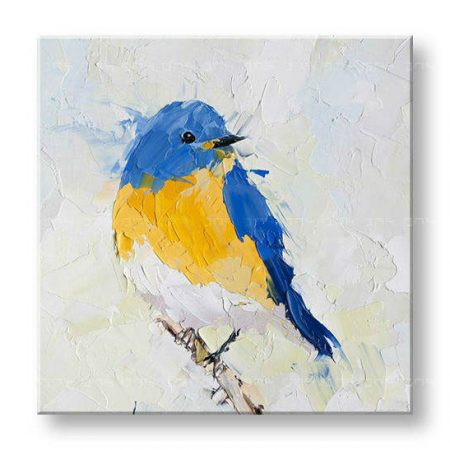 Maľovaný obraz na stenu LITTLE BIRD FB084E1