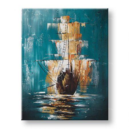 Maľovaný obraz na stenu LOĎ 1 dielny YOBFB550E1