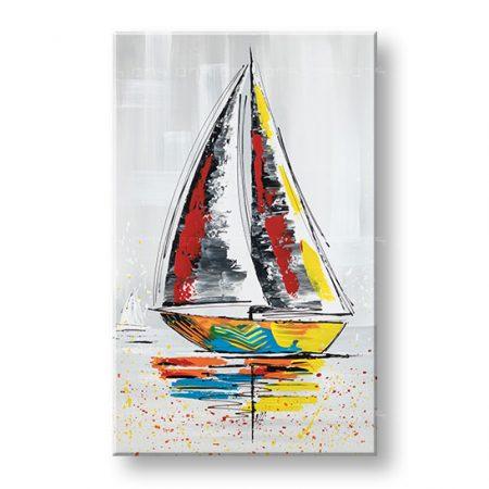 Maľovaný obraz na stenu LOĎ 1 dielny YOBFB551E1