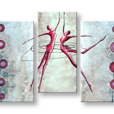 Maľovaný obraz na stenu LOVE 3 dielny NU0028E3