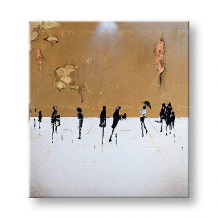 Maľovaný obraz na stenu ĽUDIA 1 dielny YOBFB581E1