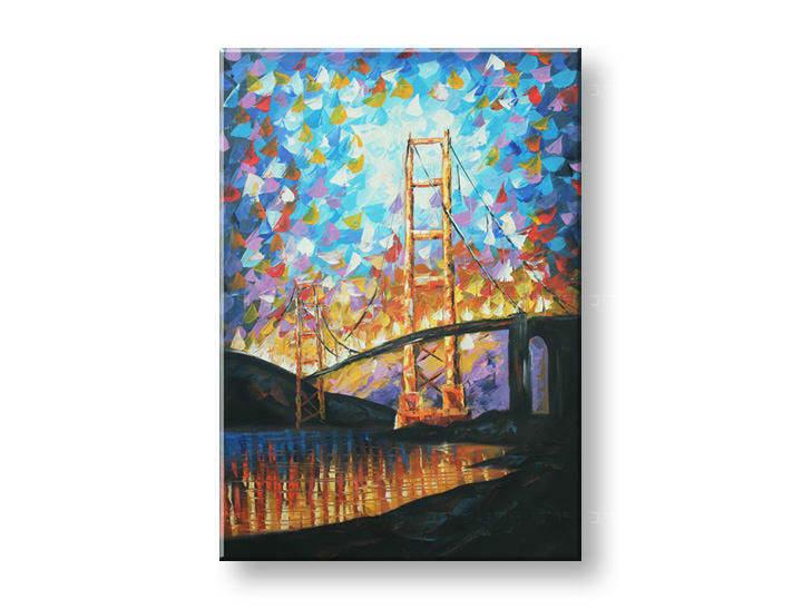Maľovaný obraz na stenu MESTO FB149E1
