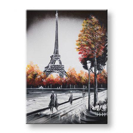 Maľovaný obraz na stenu PARÍŽ 1 dielny YOBFB566E1
