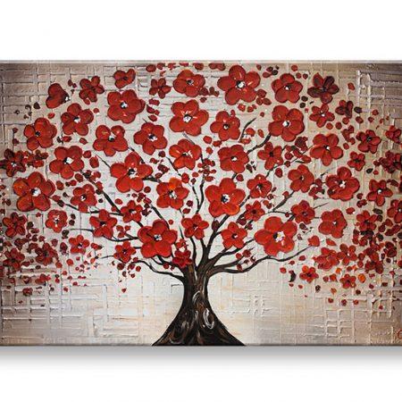 Maľovaný obraz na stenu STROM YOBBI187E1