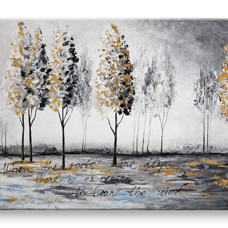 Maľovaný obraz na stenu STROMY 1 dielny YOBAM036E1