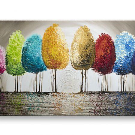 Maľovaný obraz na stenu STROMY 1 dielny YOBAM039E1