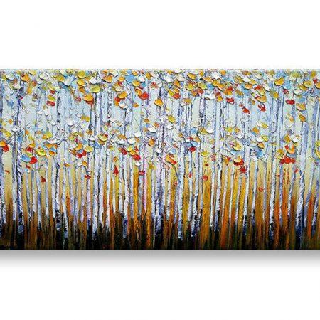 Maľovaný obraz na stenu STROMY BI118E1