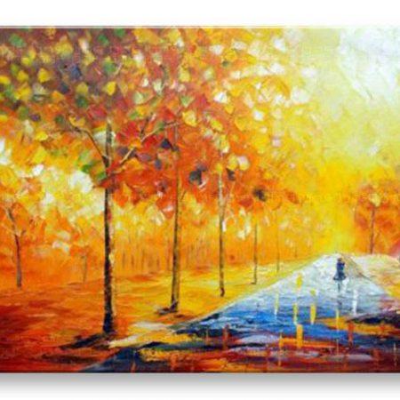 Maľovaný obraz na stenu STROMY BI130E1