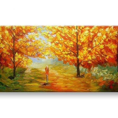 Maľovaný obraz na stenu STROMY BI136E1