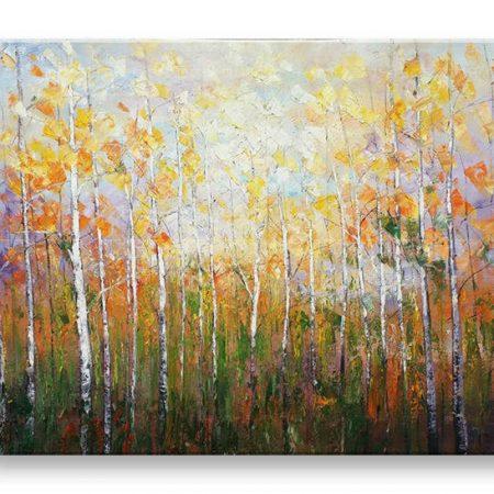 Maľovaný obraz na stenu STROMY FB498E1