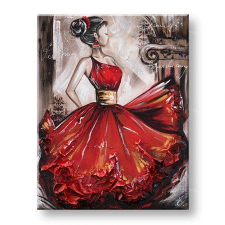 Maľovaný obraz na stenu TANEČNICA 1 dielny YOBFB549E1