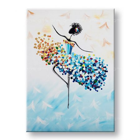 Maľovaný obraz na stenu TANEČNICA 2 dielny YOBBI197E1