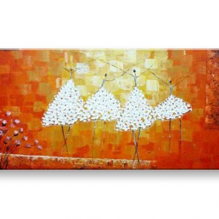 Maľovaný obraz na stenu TANEČNICE BI127E1