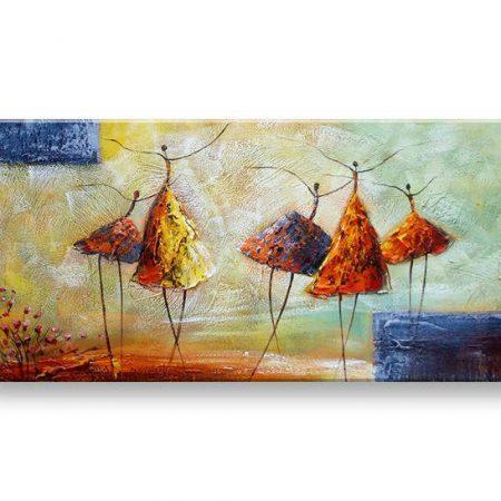 Maľovaný obraz na stenu TANEČNICE FB457E1