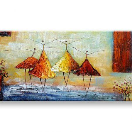 Maľovaný obraz na stenu TANEČNICE FB459E1