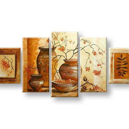Maľovaný obraz na stenu VÁZY FB399E5