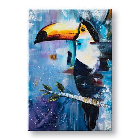 Maľovaný obraz na stenu VTÁK 1 dielny YOBDA055E1