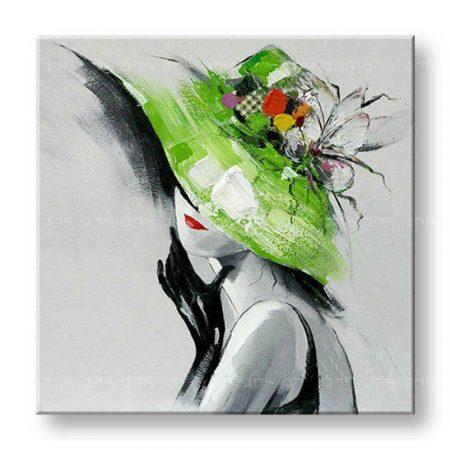 Maľovaný obraz na stenu ŽENA FB019E1