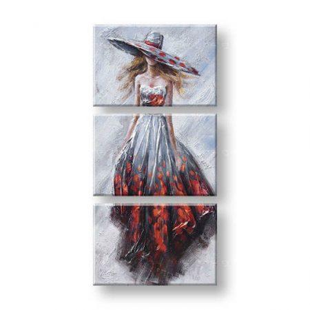 Maľovaný obraz na stenu ŽENA FB220E3