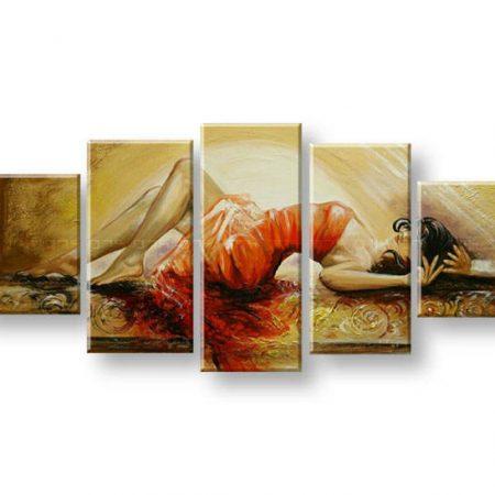 Maľovaný obraz na stenu ŽENA FB372E5