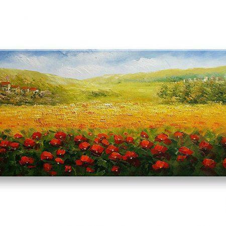 Maľovaný obraz na stenu na stenu KRAJINA BI145E1