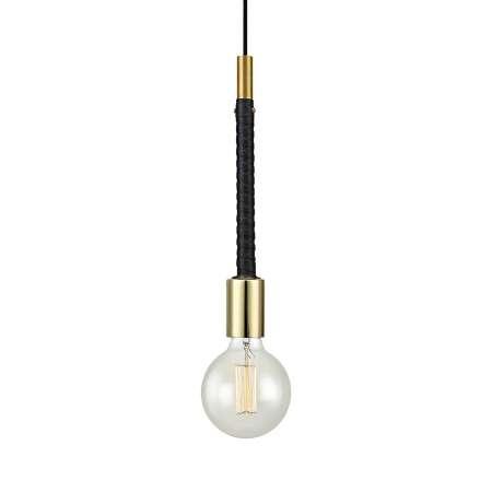 Markslöjd Závesná lampa Saddle vznešená kožená aplikácia