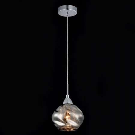 Maytoni Dymová sivá sklenená závesná lampa Haze, krištále
