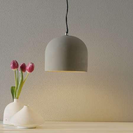 Maytoni Závesná lampa Broni z betónu, Ø 20cm