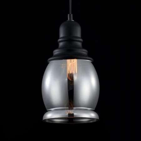 Maytoni Závesná lampa Danas s dymovým tienidlom vypuklá
