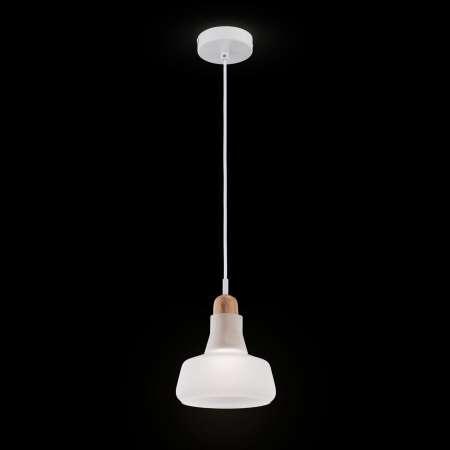 Maytoni Závesná lampa Ola sklenené tienidlo Ø 15cm biele