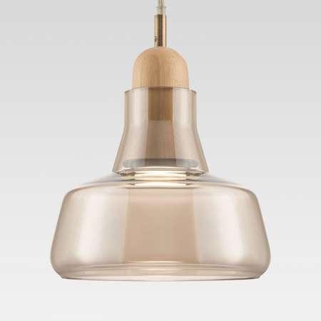 Maytoni Závesná lampa Ola sklenené tienidlo Ø 15cm jantár