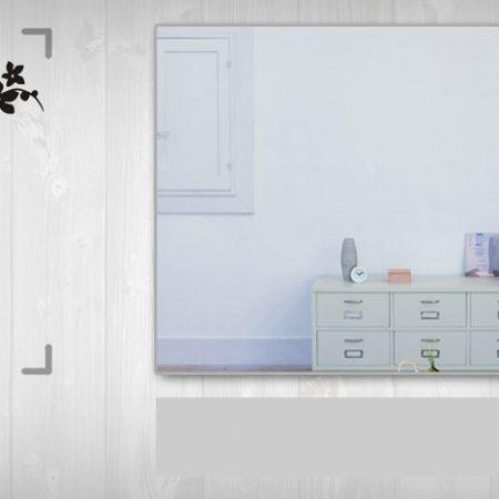Nálepka na stenu KVETY NAK058 50x100 cm – sivá farba