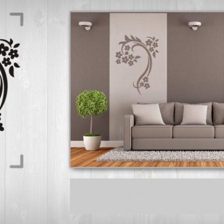 Nálepka na stenu KVETY NAK092 50x100 cm – sivá farba