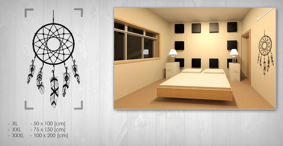 Nálepka na stenu LAPAČ SNOV NALS007 50x100 cm – čierna farba