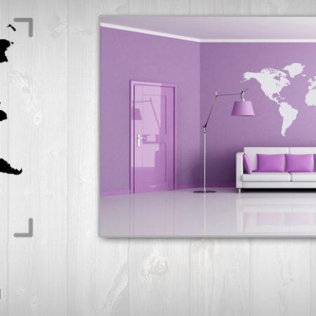 Nálepka na stenu  MAPA NAMP002 75x150 cm – sivá farba