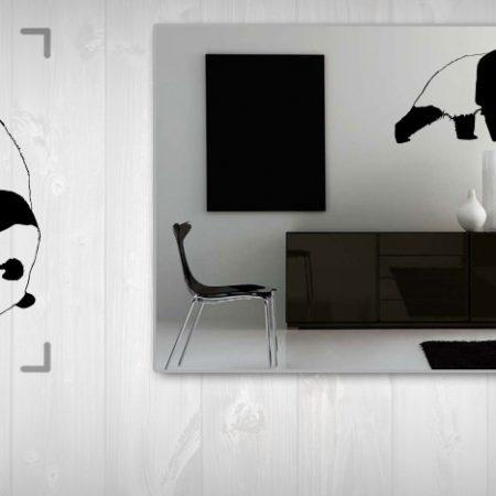 Nálepka na stenu PANDA 100x200 cm NAPA002/24h - biela farba