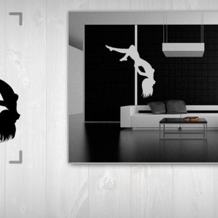 Nálepka na stenu POLE DANCE 50x100 cm NAUT001/24h - čierna farba