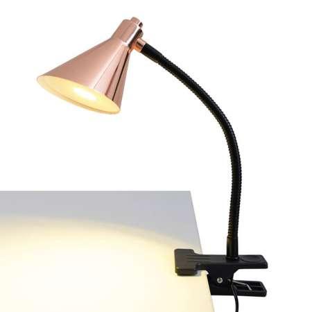 Näve Medená upínacia LED lampa Janita