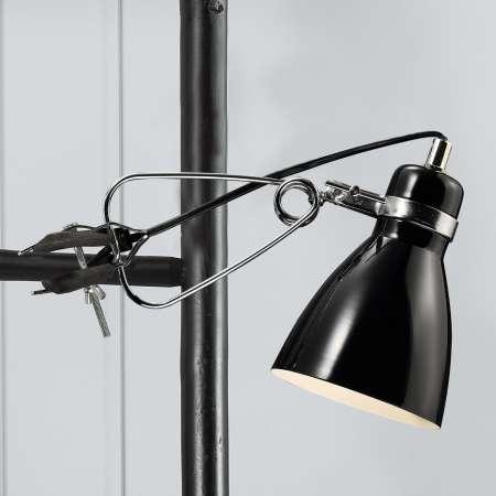 Nordlux Pôsobivá upínacia lampa Clone, čierna