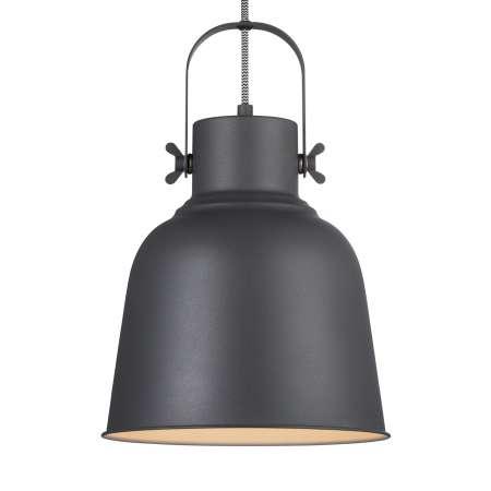 Nordlux Závesná lampa Adrian v čiernej farbe, Ø 25cm