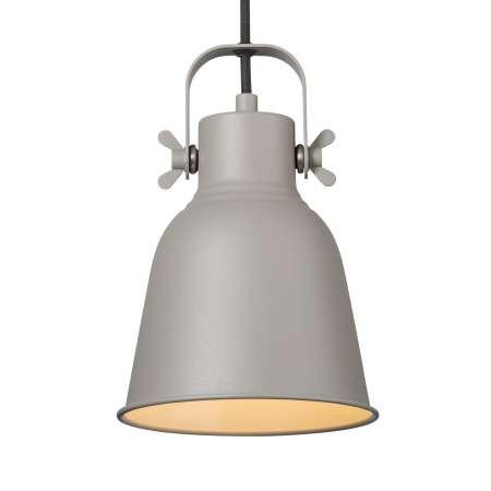 Nordlux Závesná lampa Adrian v sivej farbe, Ø 16cm