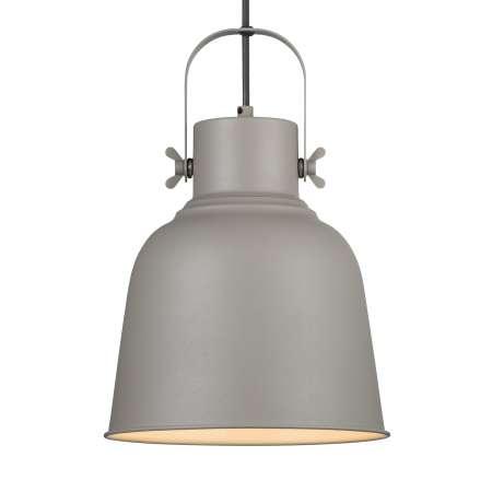 Nordlux Závesná lampa Adrian v sivej farbe, Ø 25cm