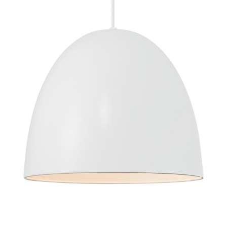 Nordlux Závesná lampa Alexander s kovovým tienidlom, biela