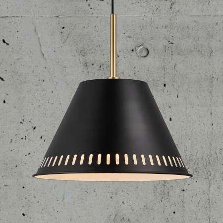 Nordlux Závesná lampa Pine, 1-plameňová, čierna
