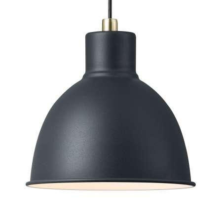 Nordlux Závesná lampa Pop Rough z kovu, čierna