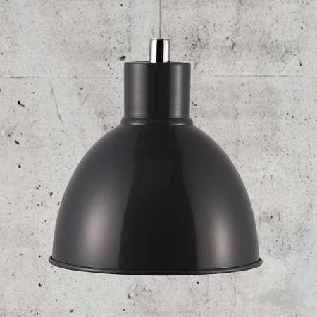 Nordlux Závesná lampa Pop s kovovým tienidlom, antracit